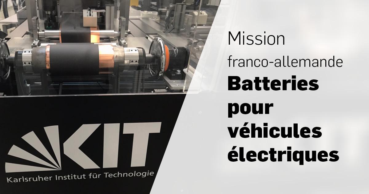 Mission Batteries pour véhicules électriques